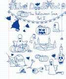 комплект doodle 9 Альфред Стоковые Изображения