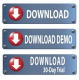 комплект download кнопки Стоковое Изображение RF