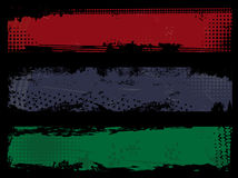 комплект grunge знамен Стоковые Изображения RF