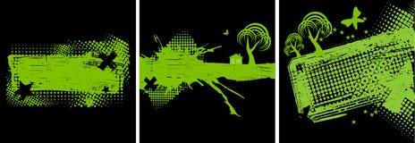 комплект grunge окружающей среды знамен Стоковое Фото