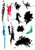 комплект grunge помарками Стоковое Изображение