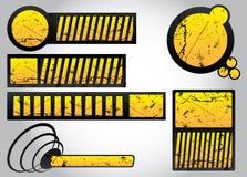 комплект grunge 2 элементов конструкции Стоковое Изображение