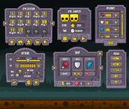 Комплект GUI игры хеллоуина иллюстрация вектора