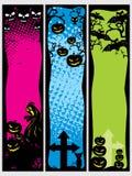 комплект halloween знамени предпосылки Стоковые Изображения RF