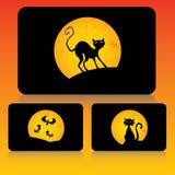 комплект halloween карточки Стоковое Изображение