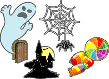 комплект halloween элементов Стоковая Фотография