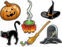 комплект halloween элементов Стоковые Фото