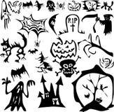 комплект halloween Стоковое Изображение RF