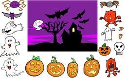комплект halloween бесплатная иллюстрация