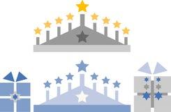 комплект hanukkah зажима искусства Стоковое Изображение