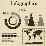 комплект info графика Стоковые Изображения RF