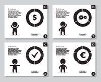 Комплект infographics от стилизованной диаграммы человека и долевых диограмм, диаграмм Для представления, годовой отчет Стоковое Фото