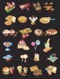 комплект international еды Стоковые Изображения