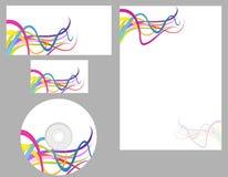 комплект letterhead визитной карточки Стоковое Фото