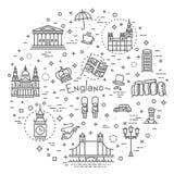 комплект london икон Англия, тонкая линия дизайн