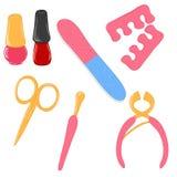 комплект manicure икон Стоковые Изображения