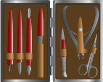 комплект manicure Стоковое Изображение RF