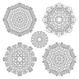 Комплект Monochrome вектора мандал иллюстрация вектора