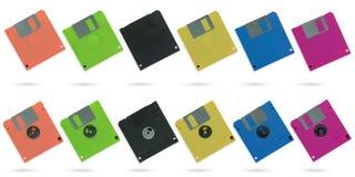 Комплект multicolour дискета Стоковые Изображения RF