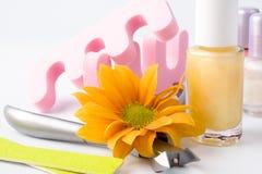 комплект pedicure красотки Стоковое Изображение