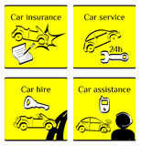Комплект pictogram автомобиля Стоковая Фотография