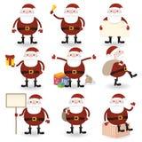 Комплект Santa Claus иллюстрация вектора