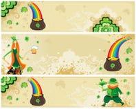 Комплект St. Patrick знамен Стоковое Изображение RF