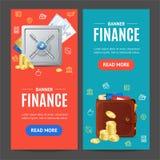 Комплект Vecrtical знамени финансов вектор Стоковое фото RF