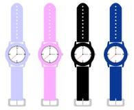 Комплект wristwatches малышей Стоковые Фото