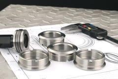 компоненты измеряя металл стоковое фото rf