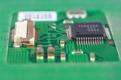 Компоненты монтажной платы компьютера Стоковое Изображение RF