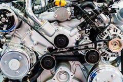 Компоненты мотора двигателя тележки в обслуживании автомобиля стоковое изображение