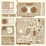 Компоненты настольного компьютера Стоковое Изображение