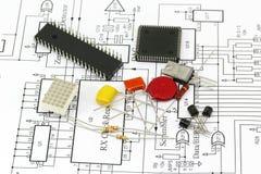 Компоненты электроники стоковая фотография rf