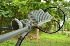 Компонент спутниковой антенна-тарелки на деловая жизнь Стоковая Фотография RF