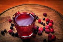 Компот ягоды в стекле Стоковые Фотографии RF
