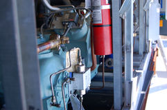 Компрессор и шкаф рефрижерации Стоковая Фотография RF