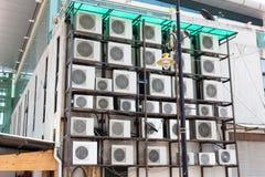 Компрессор кондиционирования воздуха стоковая фотография rf
