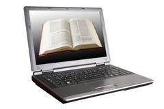компьтер-книжка библии Стоковые Изображения