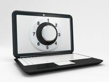 Компьтер-книжка или концепция компьютерной безопасности Стоковые Фотографии RF