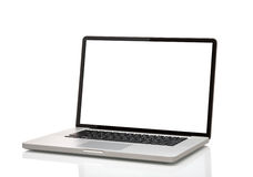 Компьтер-книжка, как macbook с пустым экраном Стоковое фото RF