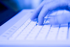 компьтер-книжка клавиатуры компьютера Стоковая Фотография