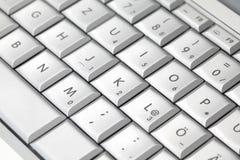 компьтер-книжка клавиатуры крупного плана самомоднейшая Стоковое Фото
