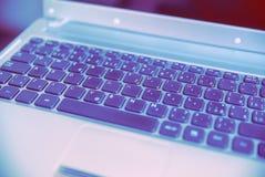компьтер-книжка клавиатуры Стоковое Изображение