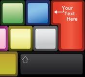 компьтер-книжка клавиатуры иллюстрация вектора