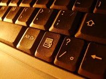 компьтер-книжка клавиатуры Стоковое Фото
