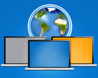 Компьтер-книжка компьютера Стоковые Фото