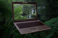 компьтер-книжка компьютера стоковая фотография