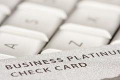 компьтер-книжка кредита визитной карточки Стоковая Фотография