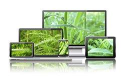 Компьютеры и принципиальная схема природы. Стоковые Изображения RF